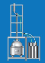 Pilot scale distillation equipment by B/R Instrument.  50 to 1000 liter batch sizes